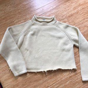 Vintage L.L.Bean cut cropped sweater